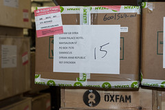 Oxfam loads emergency supplies to be sent to Syria