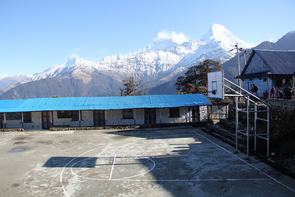 Basketball court in the Himalayas