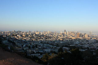 The view from Corona Heights Park Summit