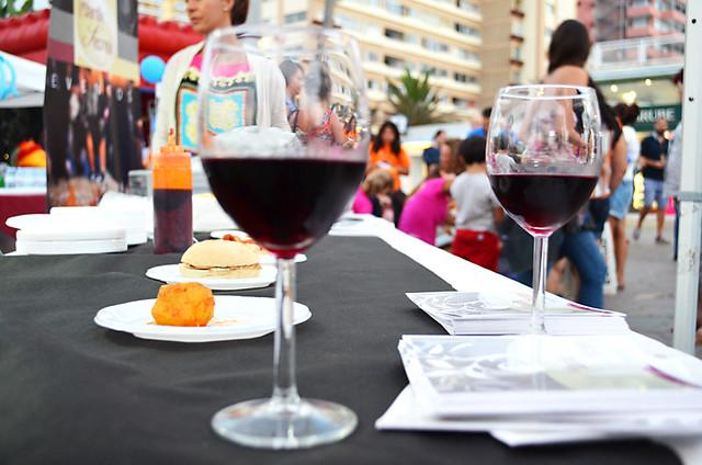 Wine and tapas, Noche en Blanco, Puerto de la Cruz, Tenerife