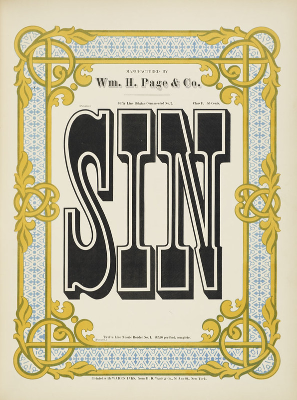 Specimens of chromatic wood type, borders 1874 - [via Columbia U] (Sin) Belgian ornamented No.2 type