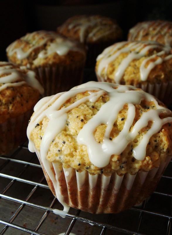 Lemon Poppy Seed Muffin: Glazed