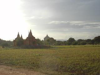 Pagodas along dirt path