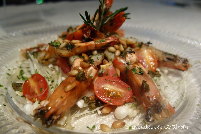 air-grilled italian styled tiger prawn