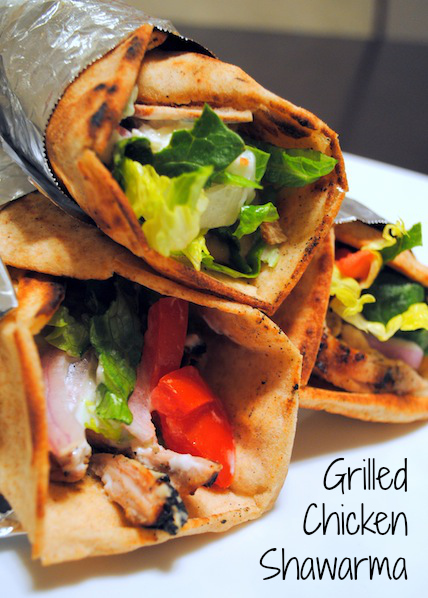 Grilled Chicken Shawarma  - make your favorite Mediterranean restaurant sandwich at home (it's healthier, too!)