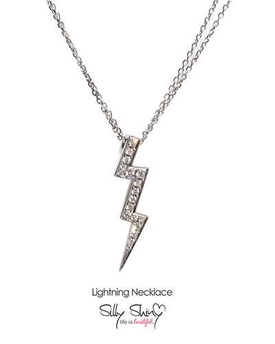 Lightning Diamonds Necklace 14K gold