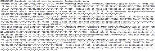 example data - grepped foodshops