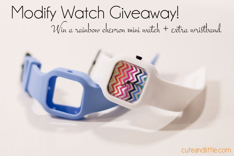 cute & little blog | modify watch giveaway | rainbow chevron mini modify watch