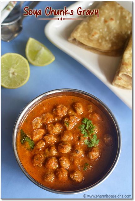Soya Chunks Gravy Recipe