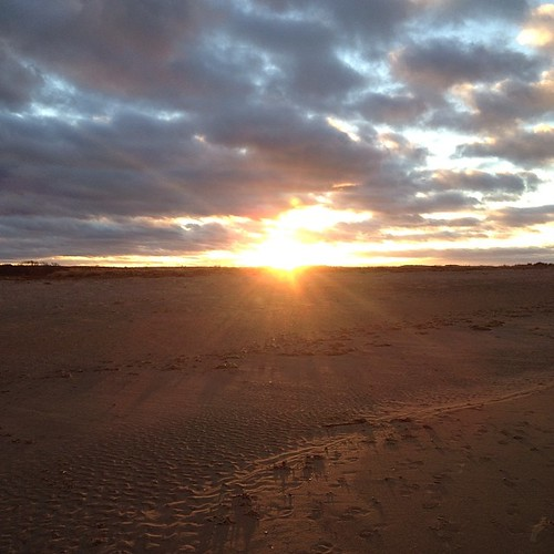 Sunset on Brancaster Beach in Norfolk, yesterday #sunset #beach #norfolk
