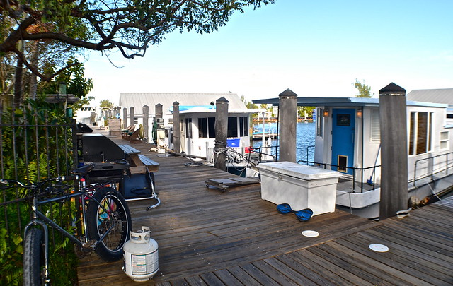 Stock Island, Key West, Florida -  docks with houseboats