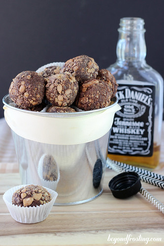 Whiskey Chocolate Toffee Truffles | beyondfrosting.com | #whiskey #chocolate #truffles