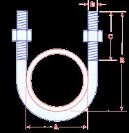 U Bolts Zinc Plated Standard Leg Image