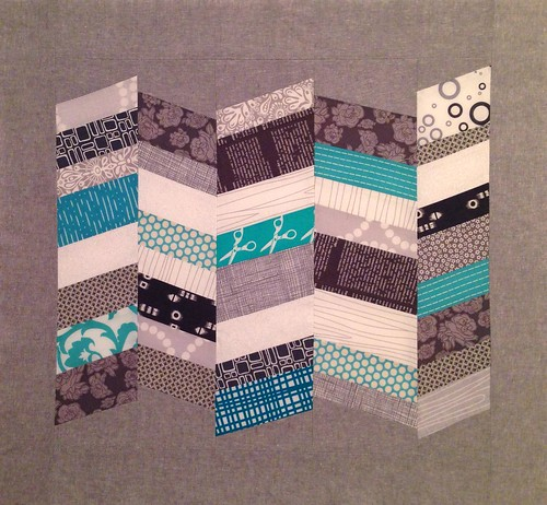 Chevrons made using Quilt Improv book by Lu Summers