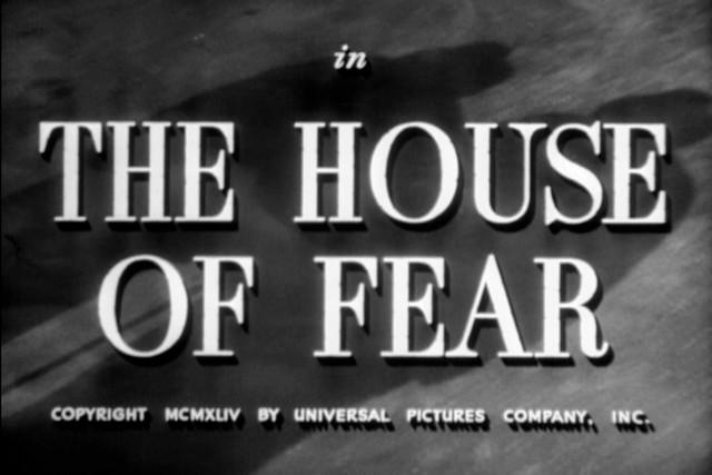 The House of Fear (1945) | Basil Rathbone as Sherlock ...