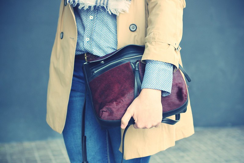 Look Trench + Burgundy booties