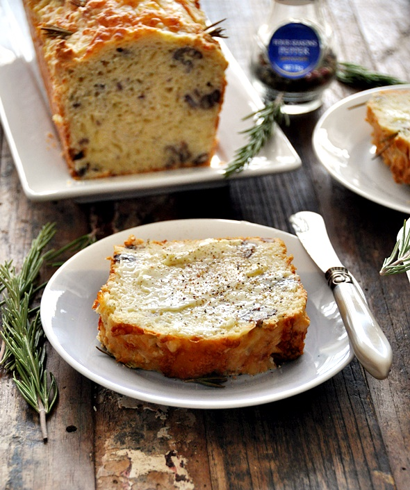 Cheesy Rosemary and Pecan Damper Loaf | www.fussfreecooking.com