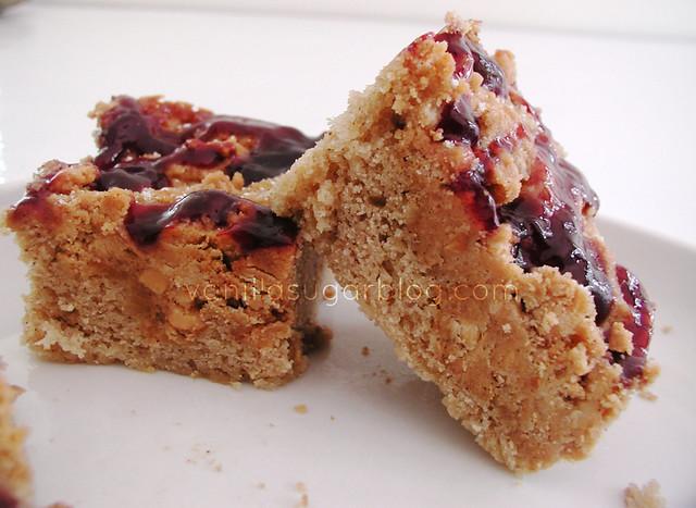 PB & J Crumb Cake 7