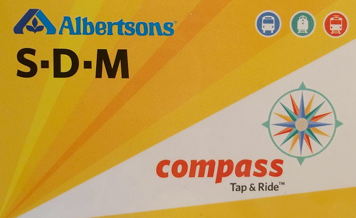 The SDMTS Compass Card (purchased at a San Diego County Albertsons) by busboy4