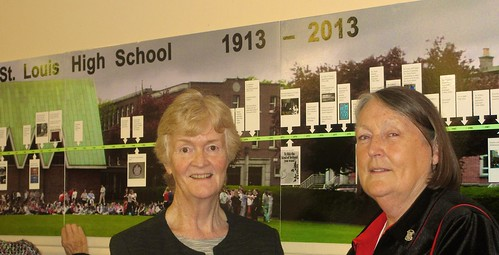 Anne Murray SSL (left) and Eithne Woulfe SSL (right), former Principals of St Louis High School, Rathmines, at a special centenary celebratory Mass on October 4, that was attended by current and former teachers and pupils from St Louis High School