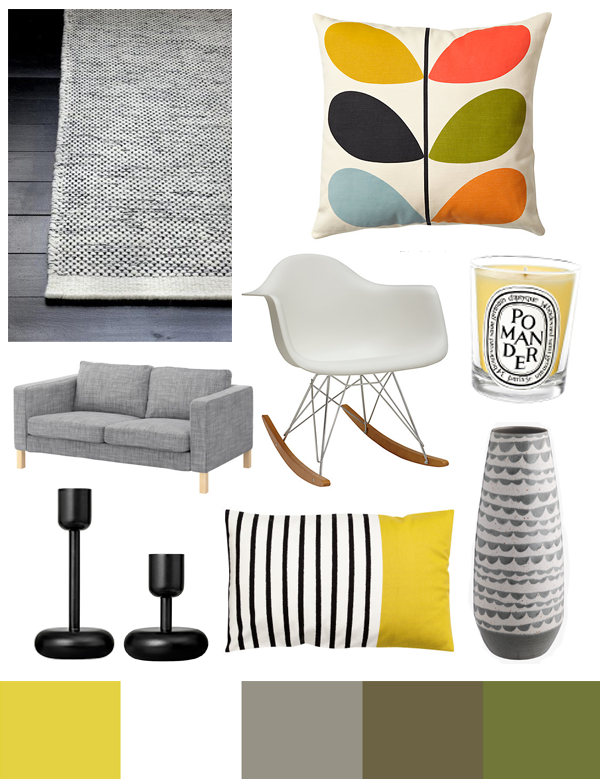 Living Room Mood Board