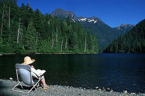 Schoen Lake Provincial Park, Nimpkish Valley, North Vancouver Island, British Columbia, Canada