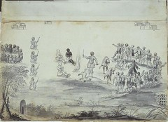 Frances Louis Michel The Trial of John Lawson, Christoph von Graffenried, and an Enslaved Man by the Tuscarora France/North Carolina (1711) Pen and Ink wash on Parchment. The story behind this sketch is an interesting one. Lawson, a surveyor, and von Graf