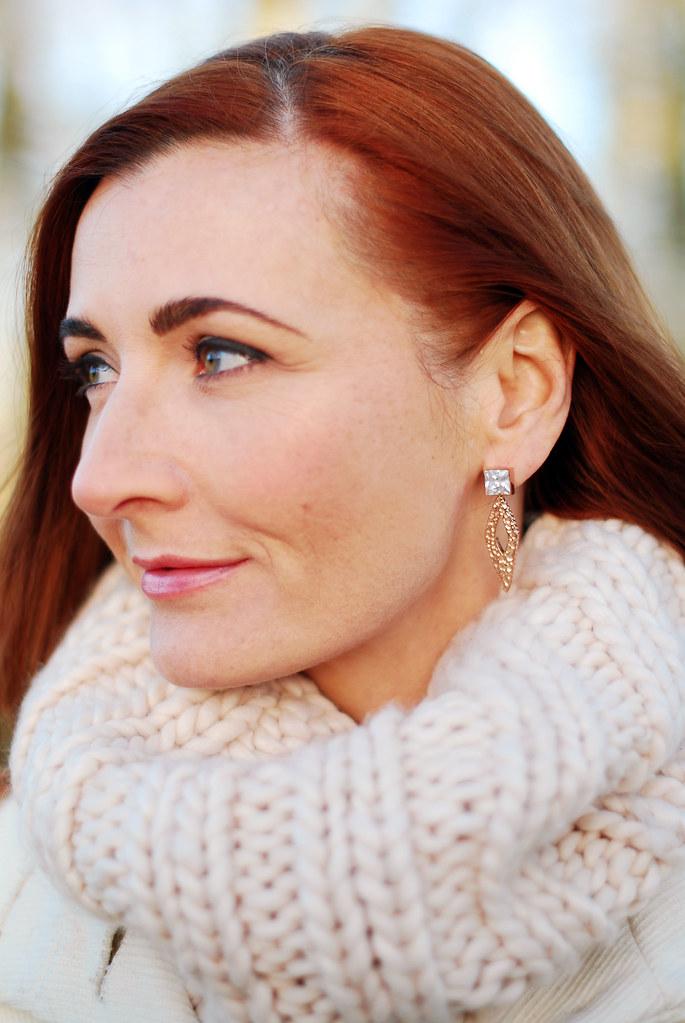 Anna Lou of London earrings & blush pink