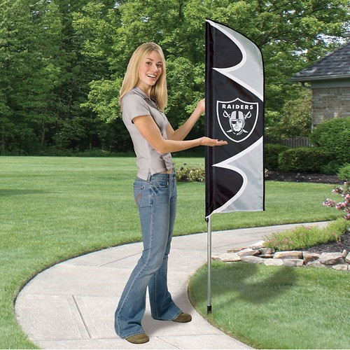 Oakland Raiders Short Feather Flag