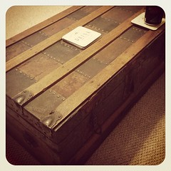 Antique Victorian steamer trunk aka our...