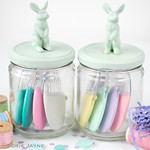 Bunny jars full of needle pebbles.jpg