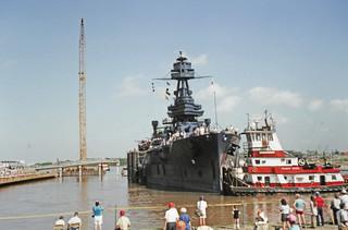 BB-35 Returns to San Jacinto, July 26, 1990 p