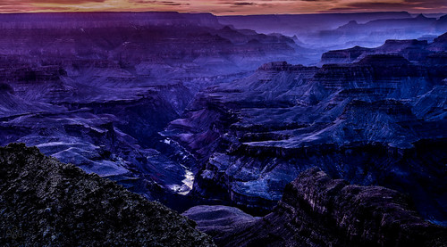 The blue canyon: The Grand Canyon in the blue hour