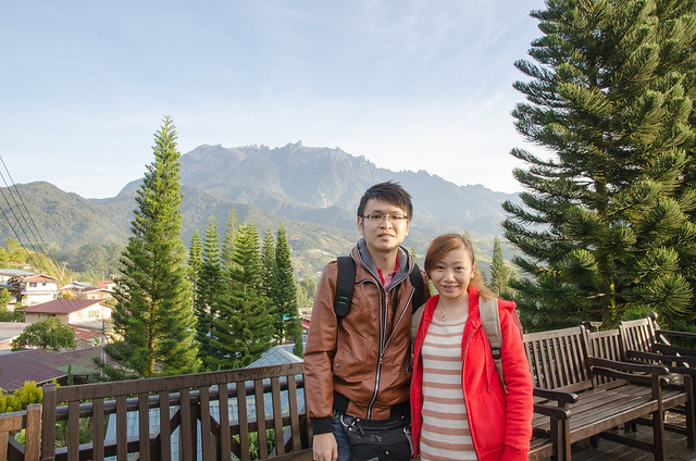 Come to this resort must take a photo with the Gunung Kinabalu