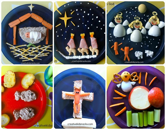 Fun Snacks to teach the kids about Jesus.  Great to make during the month leading up to Easter.
