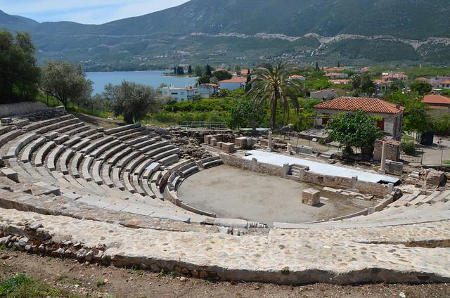 The small Theatre of Epidaurus, dated to 4th century BC, Ancient Epidaurus Village