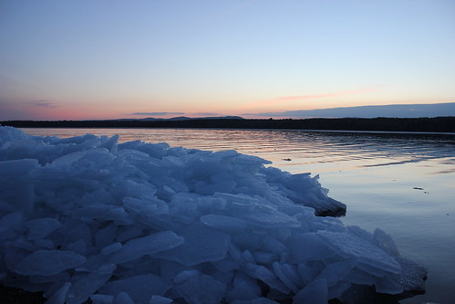 sunset ice greatsacandagalake