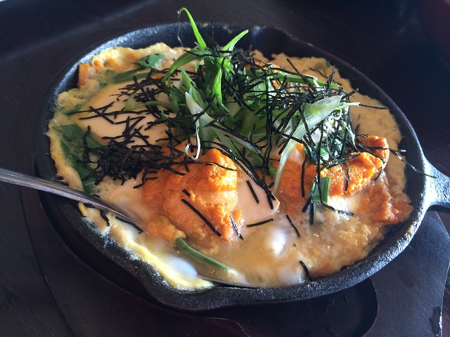 Sea urchin in egg - Izakaya Roku