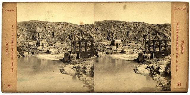 Artificio de Juanelo en 1863. Fotografía de Ernest Lamy. Colección Luis Alba, Archivo Municipal de Toledo