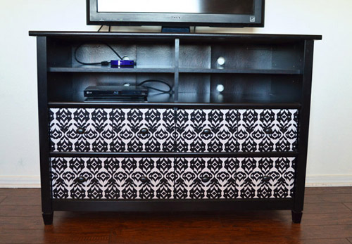 I was pretty certain that I wanted a dark TV stand upwards but I wasn Temporary Furniture Makeover