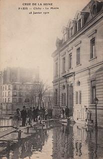 Crue de la Seine. Paris - Clichy - La Mairie. 28 Janvier 1910 (28 January, 1910)