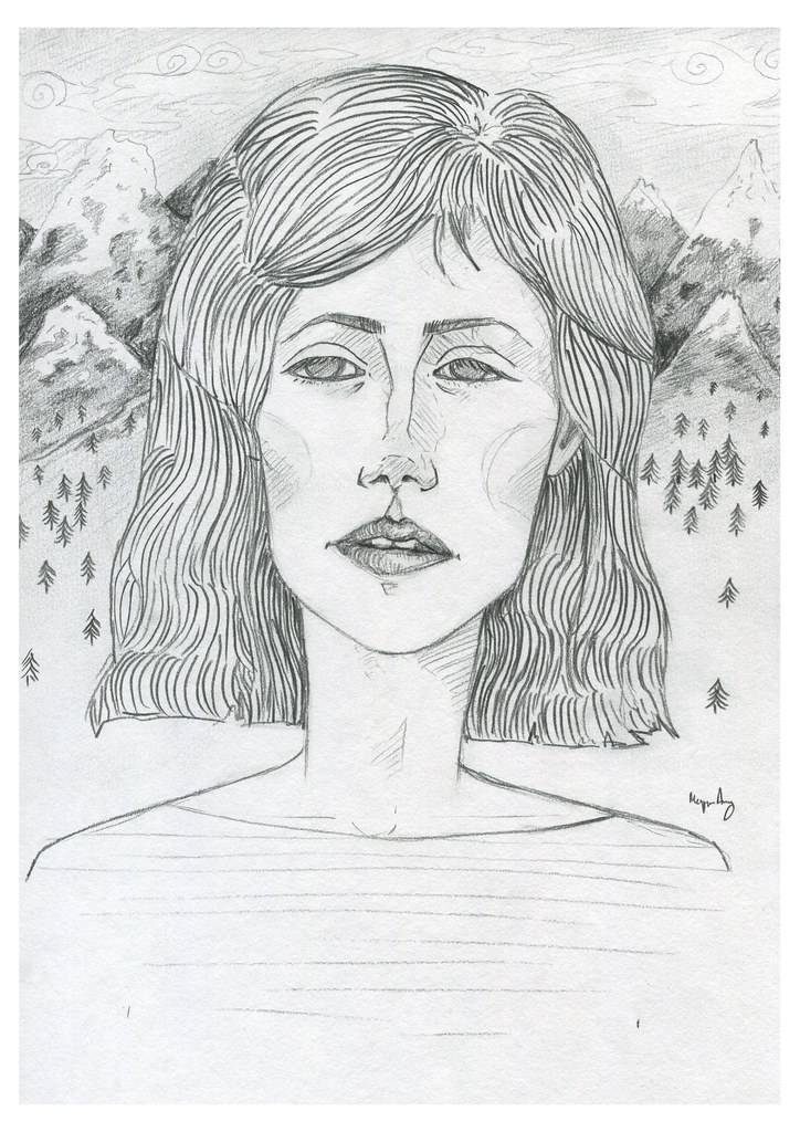 mountain girl print 2014