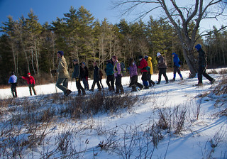 hiking on a Harris Center outing (photo: Laurel Swope-Brush)