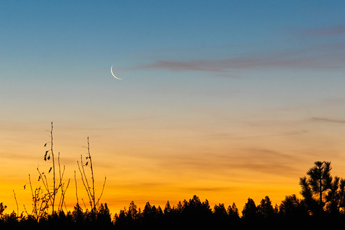 moon colors sunrise sliver slivermoon