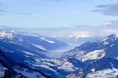 Blaues Panorama
