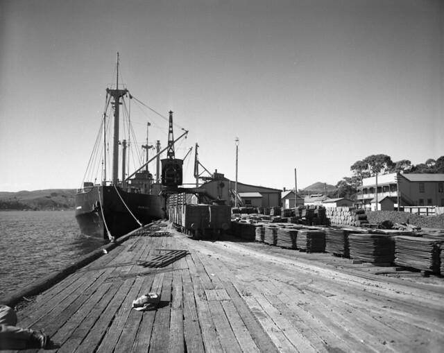 Regatta Point Wharf, Copper Stacks, 1952