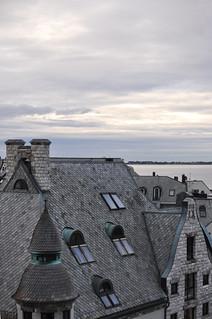 Takfönster och skiffertak i Ålesund, Norge