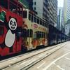 A tram jam in Causeway Bay