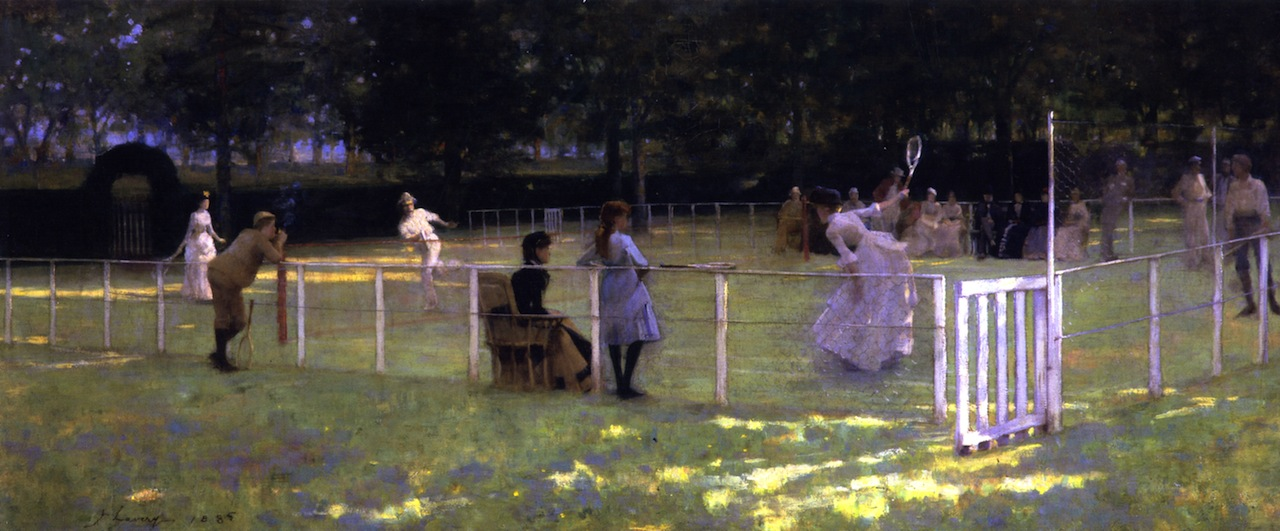 The Tennis Party by Sir John Lavery, R.A. - 1885