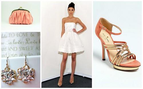 {Short, Sassy + Coral} Bridal Style by Nina Renee Designs